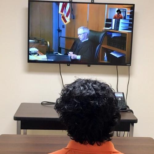 Video Conference of a judge